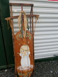 """Vintage  wooden  sled 53"""" Hagerstown, 21740"""