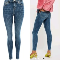 New size 26 crystal studded jeans Toronto, M2N 7C3