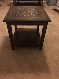 Dark brown mosaic end tables (2) New Berlin, 53151