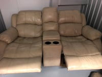 Leather reclining sofa and glider/reclining love seat with console! Arlington, 22213