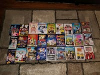 Lot of 25 DVD's with 2 VHS videos.