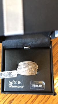 silver diamond ring in box Campbell, 95008