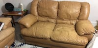 Real Leather Loveseat