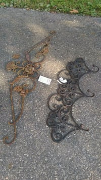 Wrought Iron Wall Art and coat Rack $10 each  Aurora