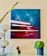 Large abstract signed painting