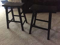 Black wood distressed bar stools Fairfax Station, 22039