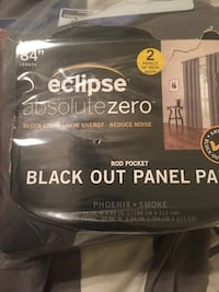 2 piece black out curtains new Temple, 76504