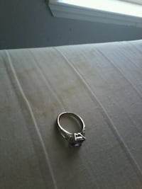 silver-colored and black gemstone ring Hyrum