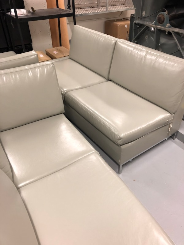 Leather couches L shape