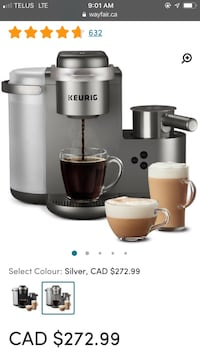 Keurig coffee and lattes maker Montréal, H3G