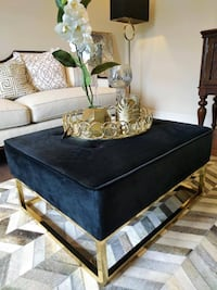 New black and golden ottoman