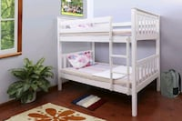 White bunk bed divisible to 2 beds (new) 2345 mi