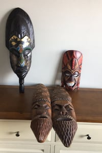 Hand carved masks from Kenya and tribal Indians Frederick, 21703