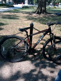 black and red hardtail mountain bike Washington, 20037