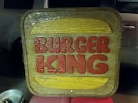 burger king wooden signboard Sapulpa, 74066