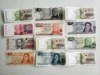 Lot of 12 Vintage Argentina Peso & Australes Bills Calgary, T2R 0S8