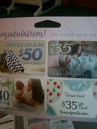Multiple gift cards  Rocky Point, 11778