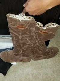 Brand new Suede Boots. Chocolate Brown and Tan Loganville, 30052