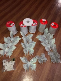 Christmas decorations silver color