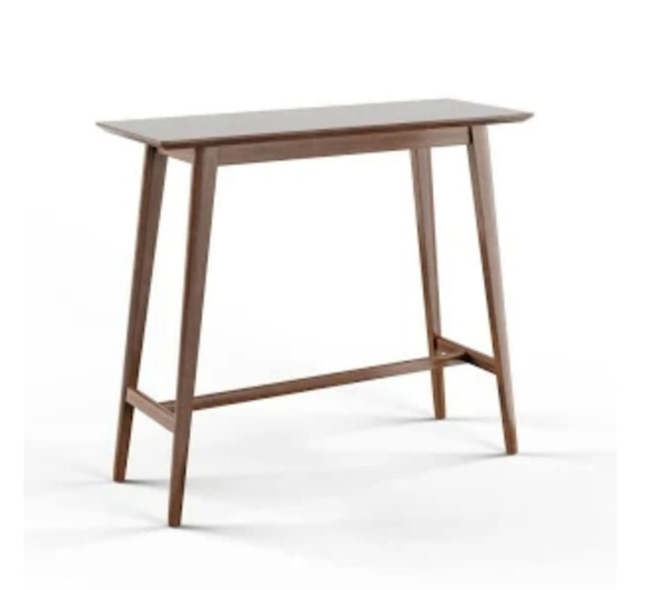 brown wooden bar height table