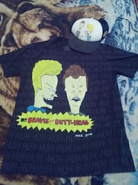 Beavis and butthead shirt and hat combo