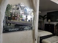 rectangular mirror with stainless steel frame Babylon