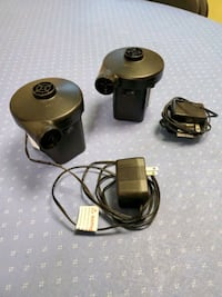 Rechargeable air pumps with chargers