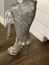Silver Lady Couture Heels