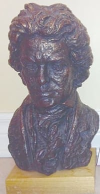 Vintage Beethoven Sculptured Bust By Austin Products London