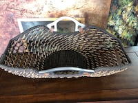 black and brown wicker basket