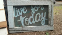 black and white wooden quote board Salem, 97306