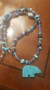 Turquoise, amethyst necklace! Astoria, 97103