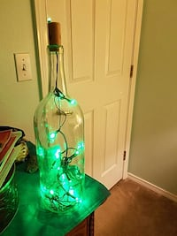 clear glass bottle pendant lamp