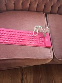 pink and white computer keyboard