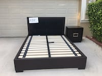 black and white wooden bed frame Weston, 33327