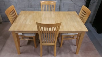 Butcher Block Dining Table & 4 Chairs