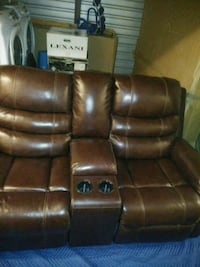 Leather Electric Double Recliner Severn, 21144
