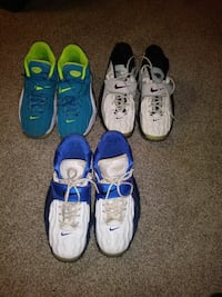 several pairs of assorted Nike shoes
