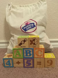 Building Blocks by Mommy and Me for toddlers, 50 blocks with bag   Harker Heights, 76548