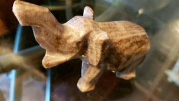 Small Stone Hand Carved Elephant