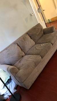 brown suede 3-seat sofa San Jose, 95112