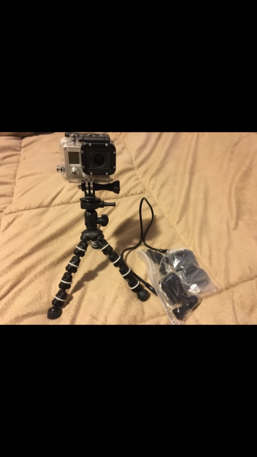 used go pro 3 black with charger in corvallis. Black Bedroom Furniture Sets. Home Design Ideas