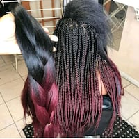 red ombre hair extension  Fort McMurray, T9H 4K1