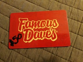 Famous Dave's $50 gift card