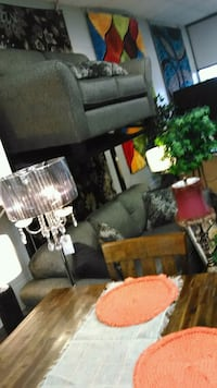 Stunning grey couch and loveseat Indianapolis