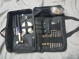 Firearms maintenance tool and punch kit set