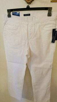 Size 12 pull on legging white ladies new stretchy