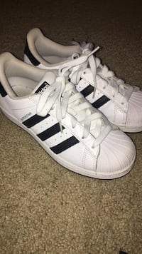White Adidas Superstars (lightly used) Bryan, 77801