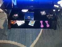 black wooden TV stand with flat screen television Haines City, 33844