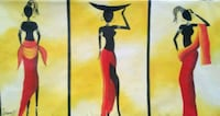 African stretched Canvas Painting